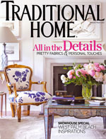 Suellen Gregory Interior Design in Traditional Home Magazine